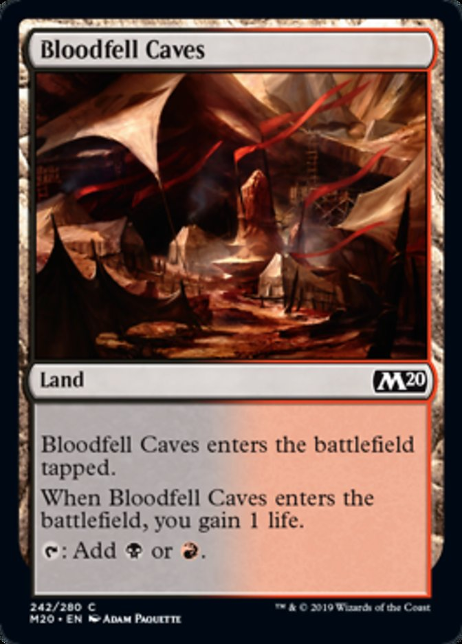Bloodfell Caves Magic Core Set 2020
