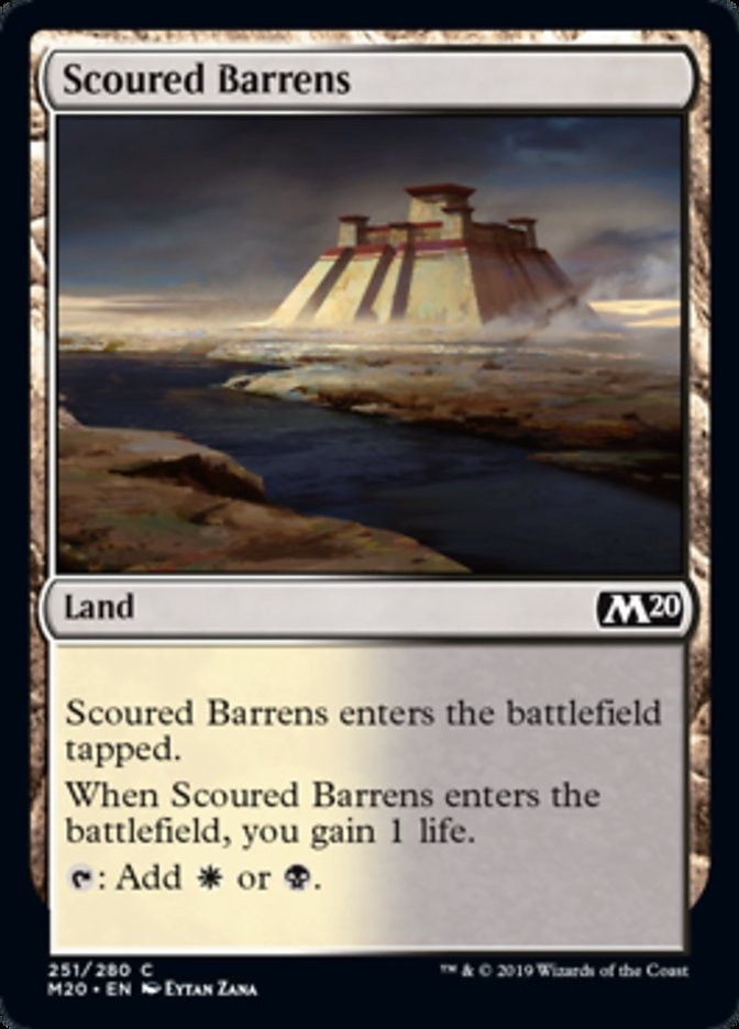 Scoured Barrens Magic Core Set 2020