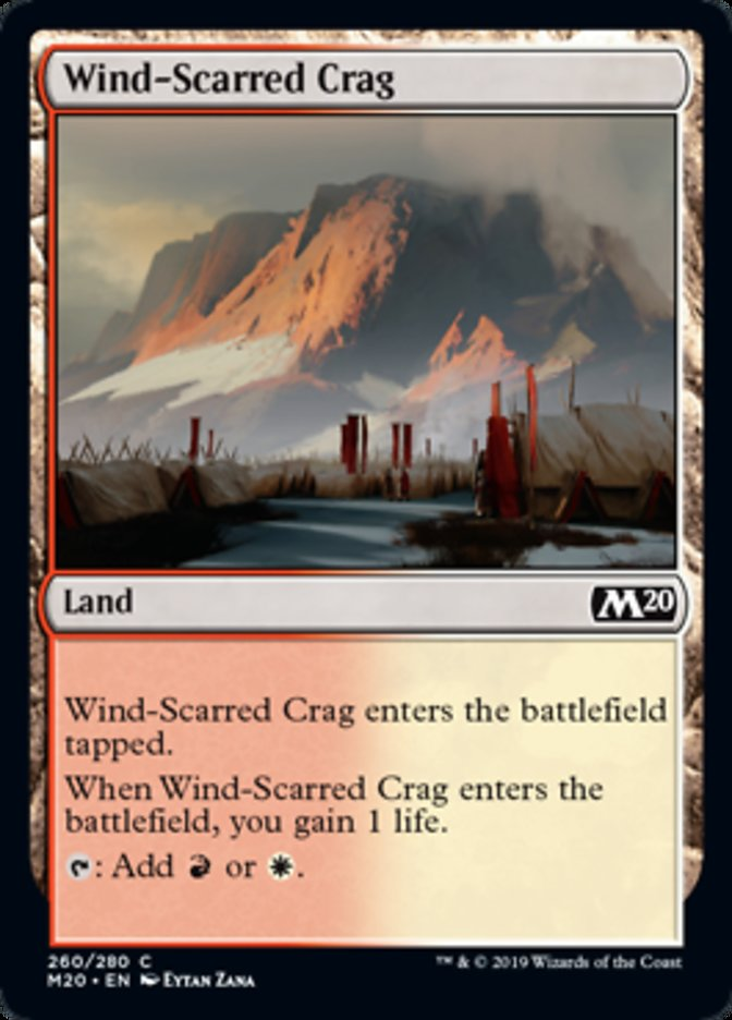 Wind-Scarred Crag Magic Core Set 2020