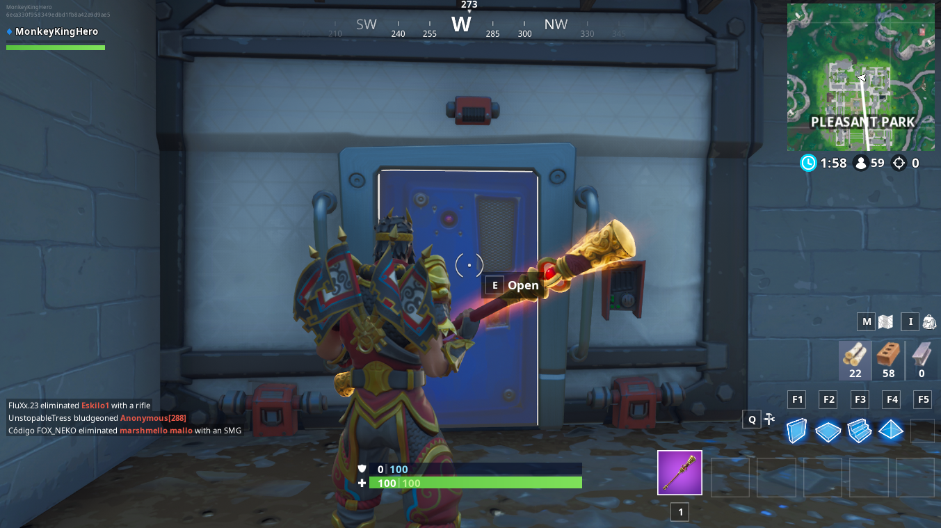 Fortbyte 37 Location: Disaster Bunker in Pleasant Park in Fortnite