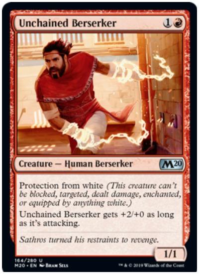 Unchained Berserker MTG Core Set 2020 Red