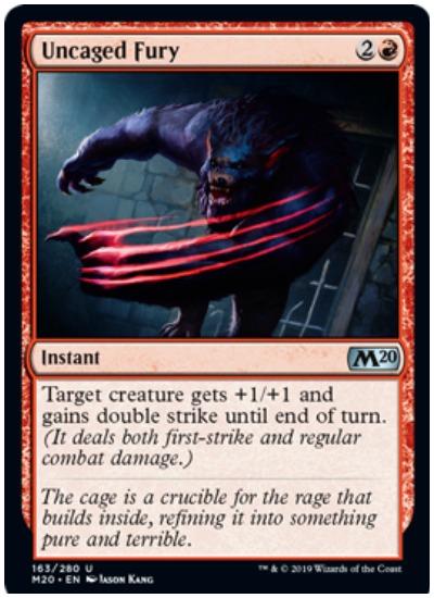 Uncaged Fury MTG Core Set 2020 Red