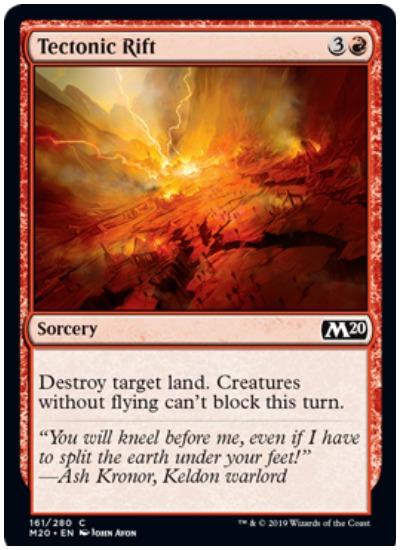 Tectonic Rift MTG Core Set 2020 Red