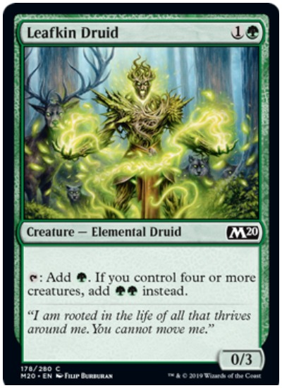 Leafkin Druid MTG Core Set 2020 Green