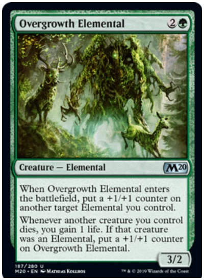 Overgrowth Elemental MTG Core Set 2020 Green