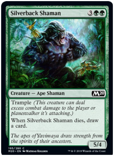 Silverback Shaman MTG Core Set 2020 Green