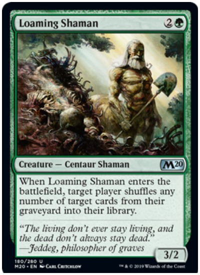 Loaming Shaman MTG Core Set 2020