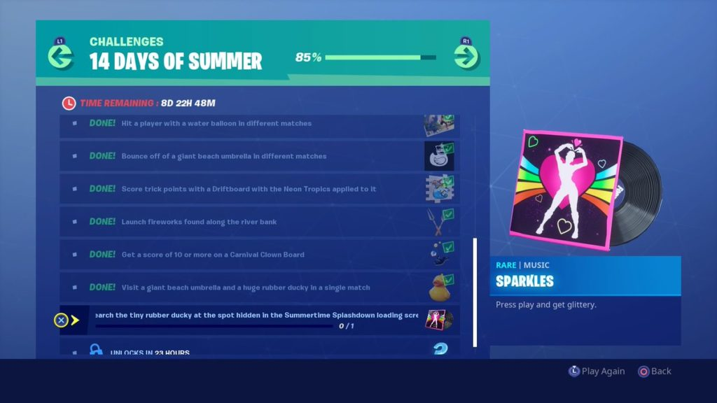 Fortnite 14 Days of Summer Challenges and Rewards List | Dot
