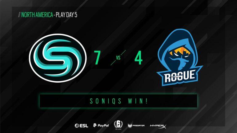 Soniqs vs Rogue matchday 5