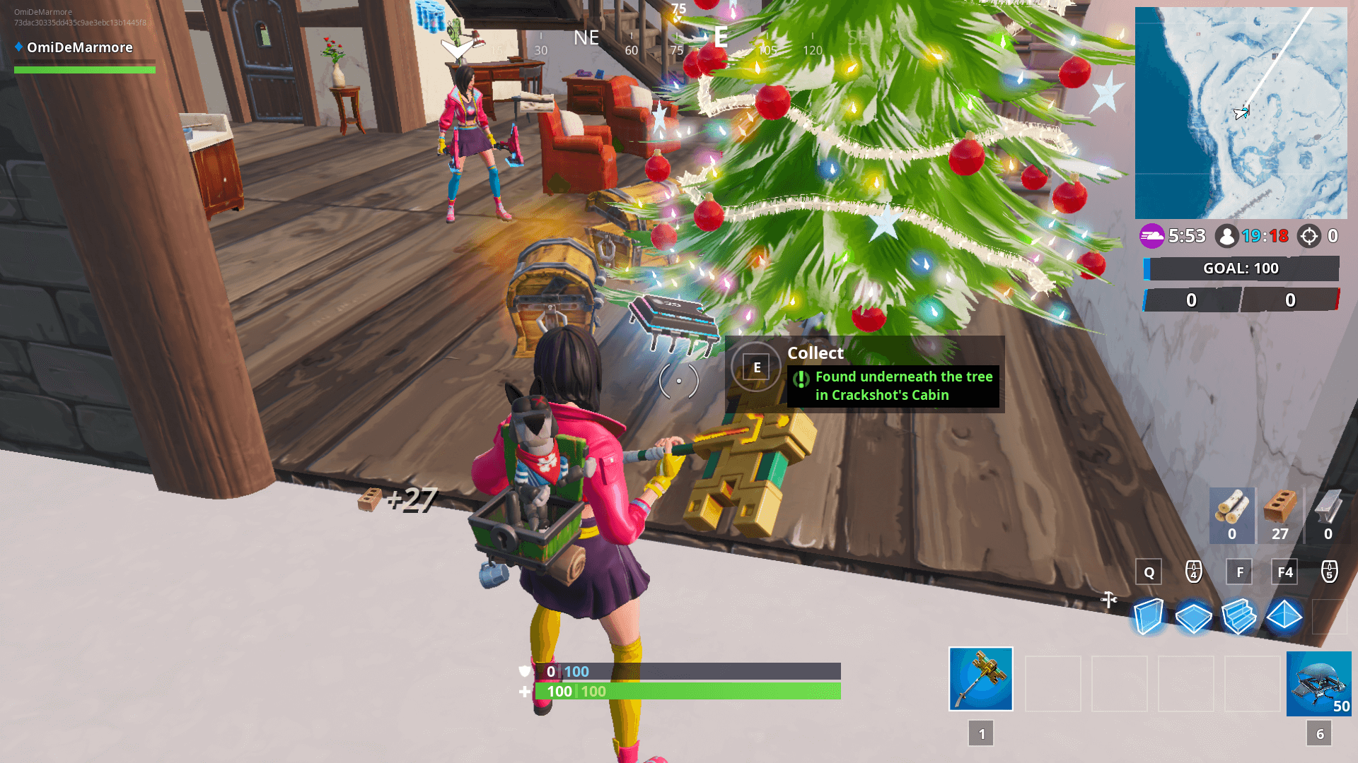 'Fortnite' Fortbyte #29 Location - Found Underneath The Tree In Crackshot's Cabin