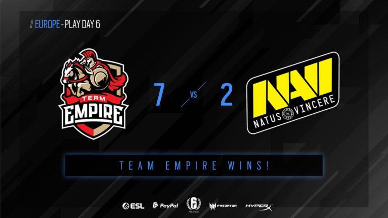 Empire vs NaVi matchday 6