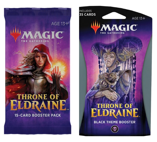 Updated Magic The Gathering booster packs in Throne of Eldraine