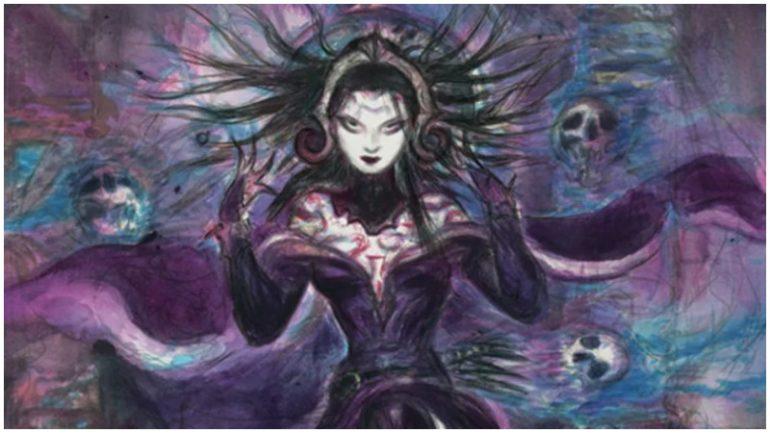 Liliana, Commander of the Dreadhorde Japanese alternative art MTG
