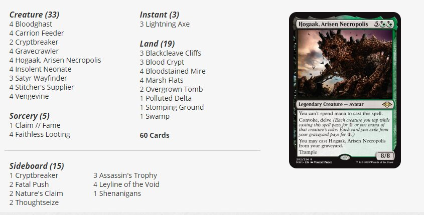 Hogaakvine Modern deck at Mythic Championship IV Magic the Gathering