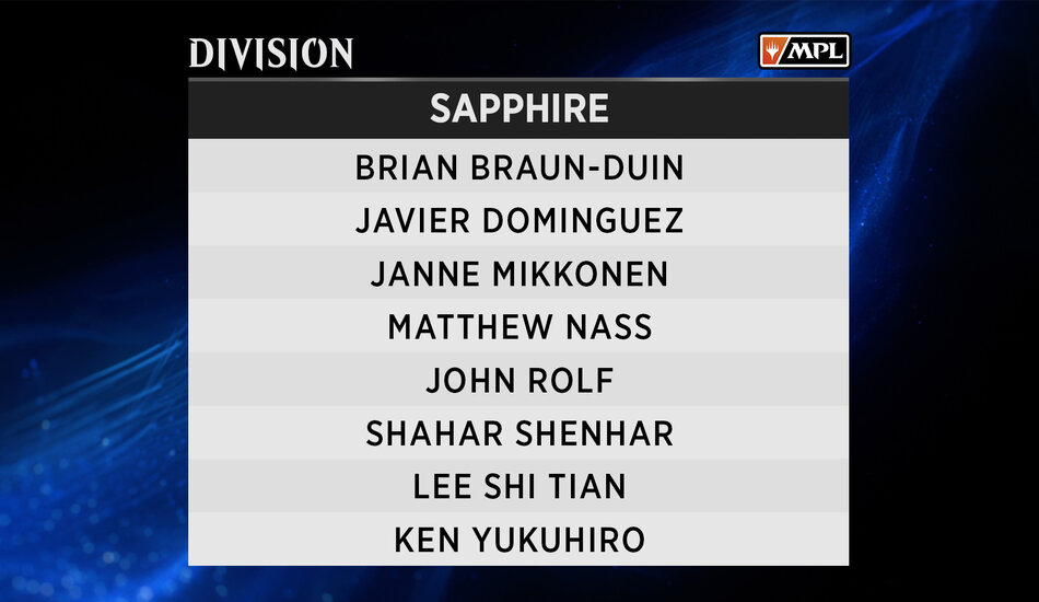 Sapphire Division MPL Weekly