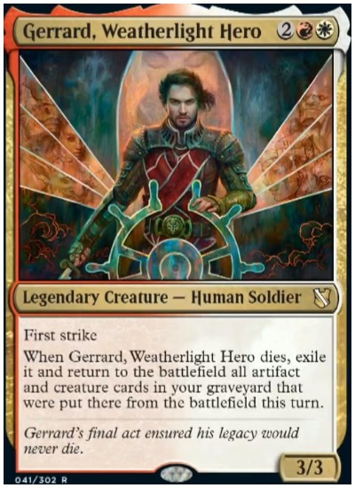 Gerrrard, Weatherlight Hero Commander 2019 MTG