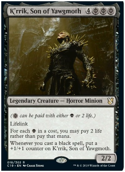K'rrik Son of Yawgmoth Commander 2019 MTG