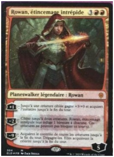 Rowan, Intrepid Sparkmage MTG Throne of Eldraine