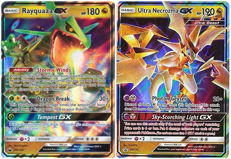 Pokémon Battle Arena Rayquaza-GX vs. Ultra Necrozma-GX