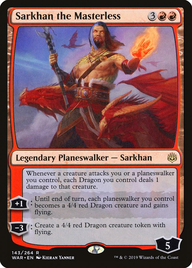 Sarkhan the Masterless Magic War of the Spark