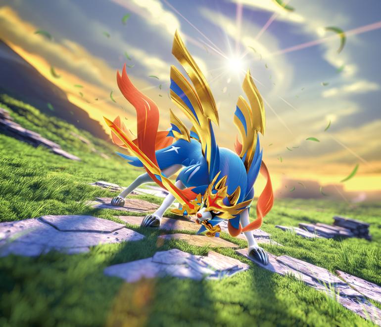 Pokemon_TCG_Sword_Shield_Zacian_Artwork