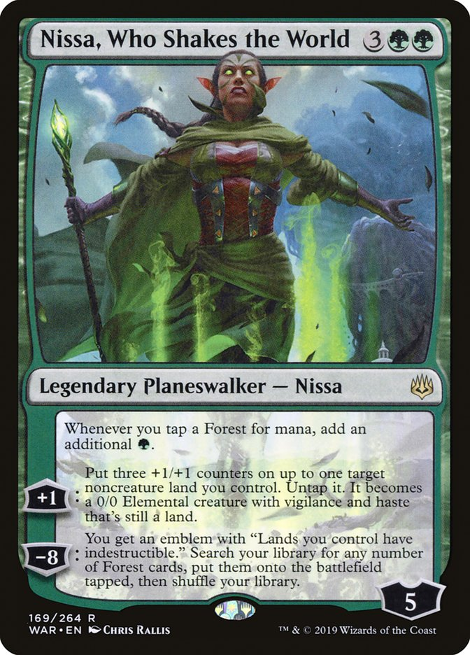 Nissa Who Shakes the World Magic War of the Spark