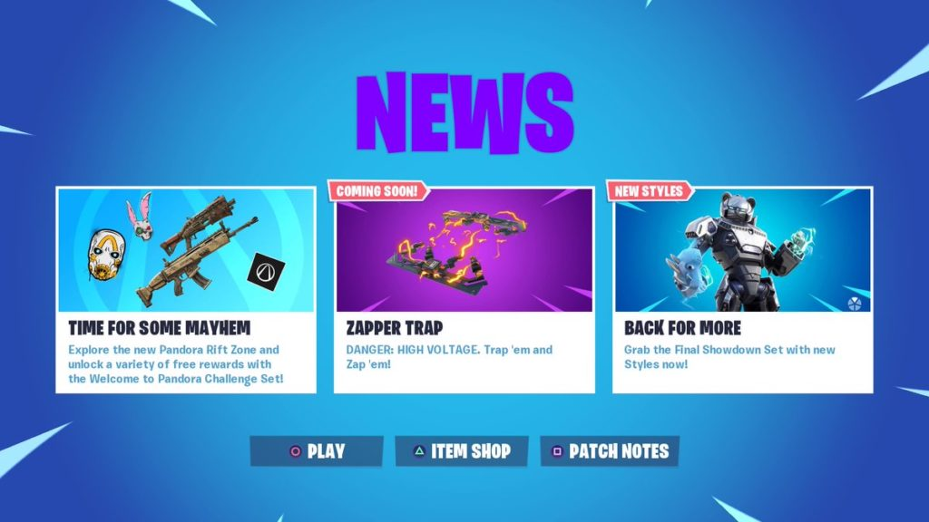 New Fortnite Zapper Trap already disabled by Epic Games