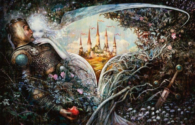 Eldraine Promo Art Magic Throne of Eldraine