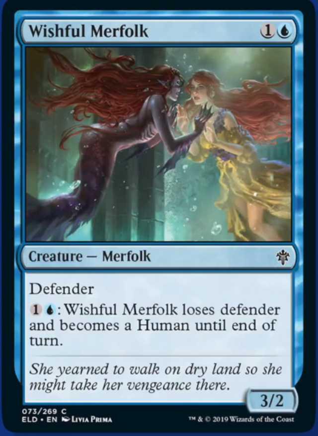 Wishful Merfolk Spoiler Magic Throne of Eldraine