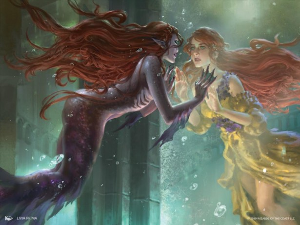 Wishful Merfolk Art Magic Throne of Eldraine