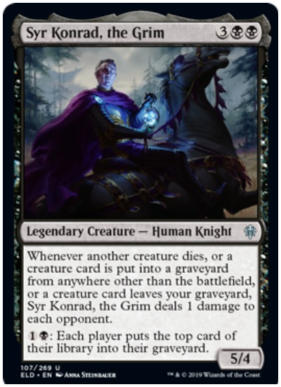 Syr Konrad, the Grim MTG Throne of Eldraine