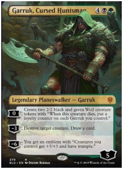 Garruk, Cursed Huntsman Twitter image MTG Throne of Eldraine