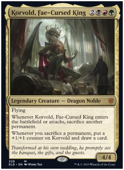 Korvold, Fae-Cursed King screenshot MTG Brawl
