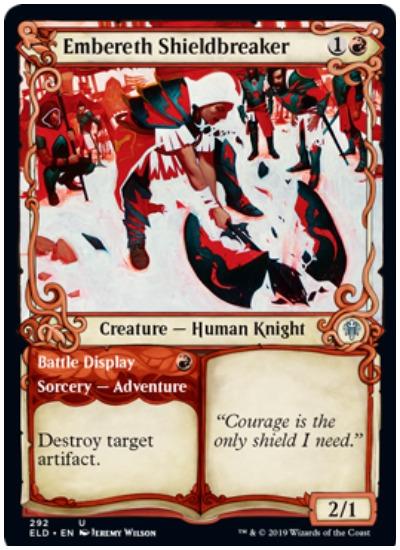 Embereth Shieldbreaker MTG Throne of Eldraine