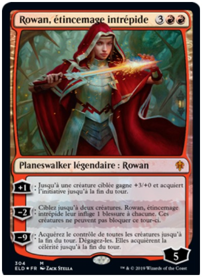 Rowan, Intrepid Sparkmage French MTG Throne of Eldraine