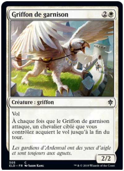 Garrison Griffon French MTG Throne of Eldraine