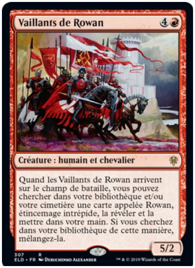 Rowan's Braves French MTG Throne of Eldraine