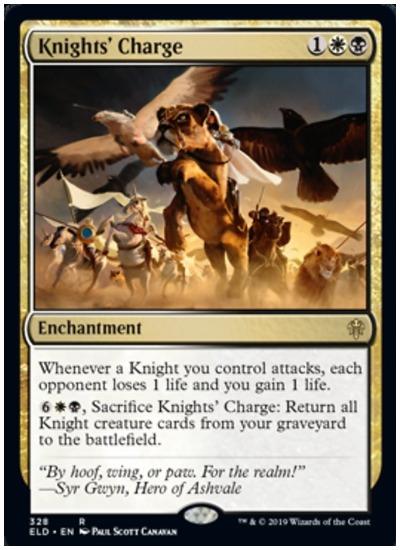 Knights' Charge MTG Throne of Eldraine