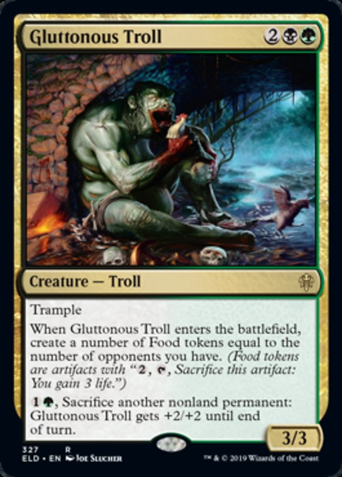 Gluttonous Troll Spoiler Magic Throne of Eldraine