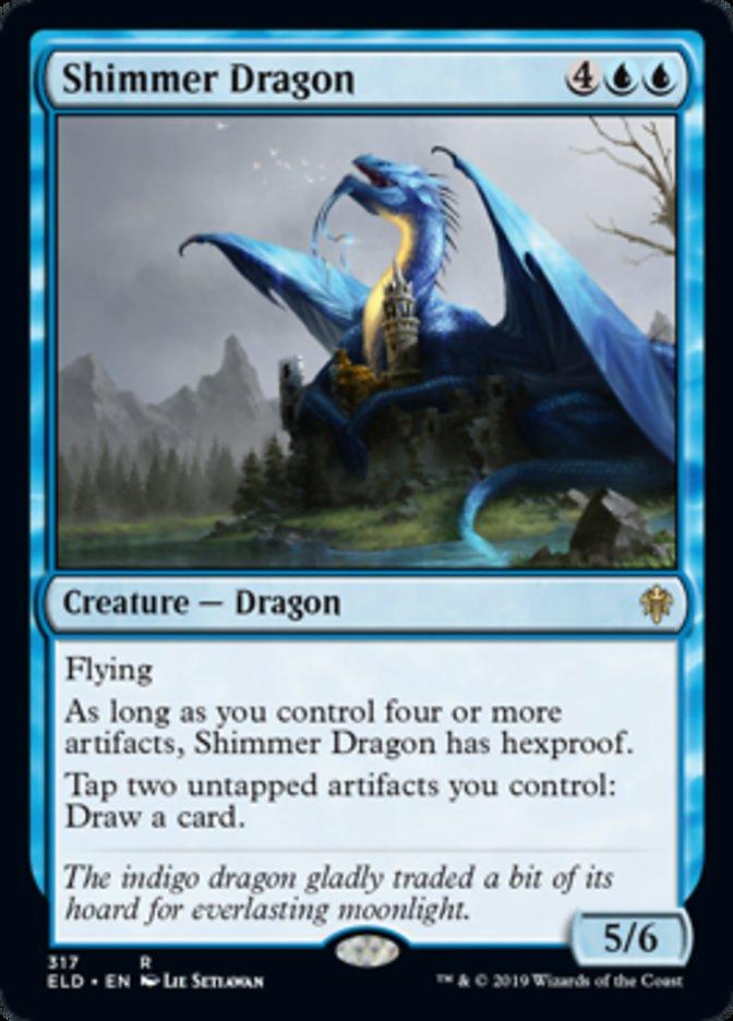 Shimmer Dragon Spoiler Magic Throne of Eldraine