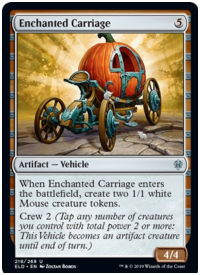 Enchanted Carriage MTG Throne of Eldraine