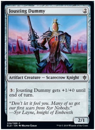 Jousting Dummy MTG Throne of Eldraine