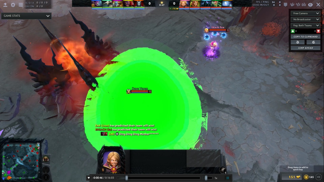 Players have been abusing command spam scripts to crash Dota