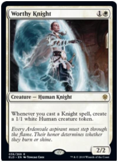 Worthy Knight Throne of Eldraine