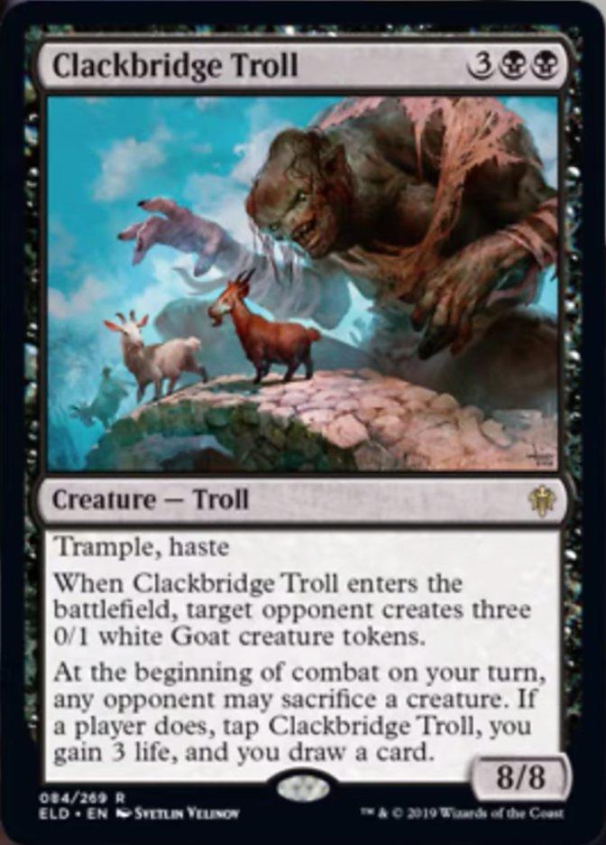 Clackbridge Troll Spoiler Magic Throne of Eldraine