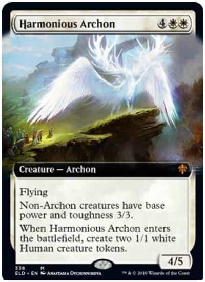 Harmonious Archon MTG Throne of Eldraine