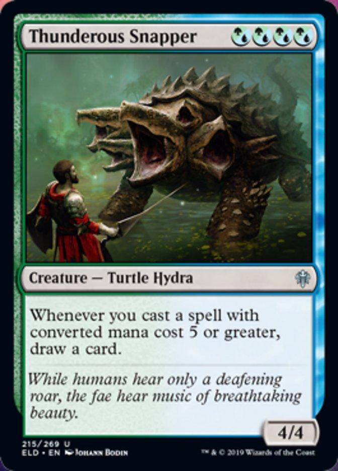 Thunderous Snapper Spoiler Magic Throne of Eldraine