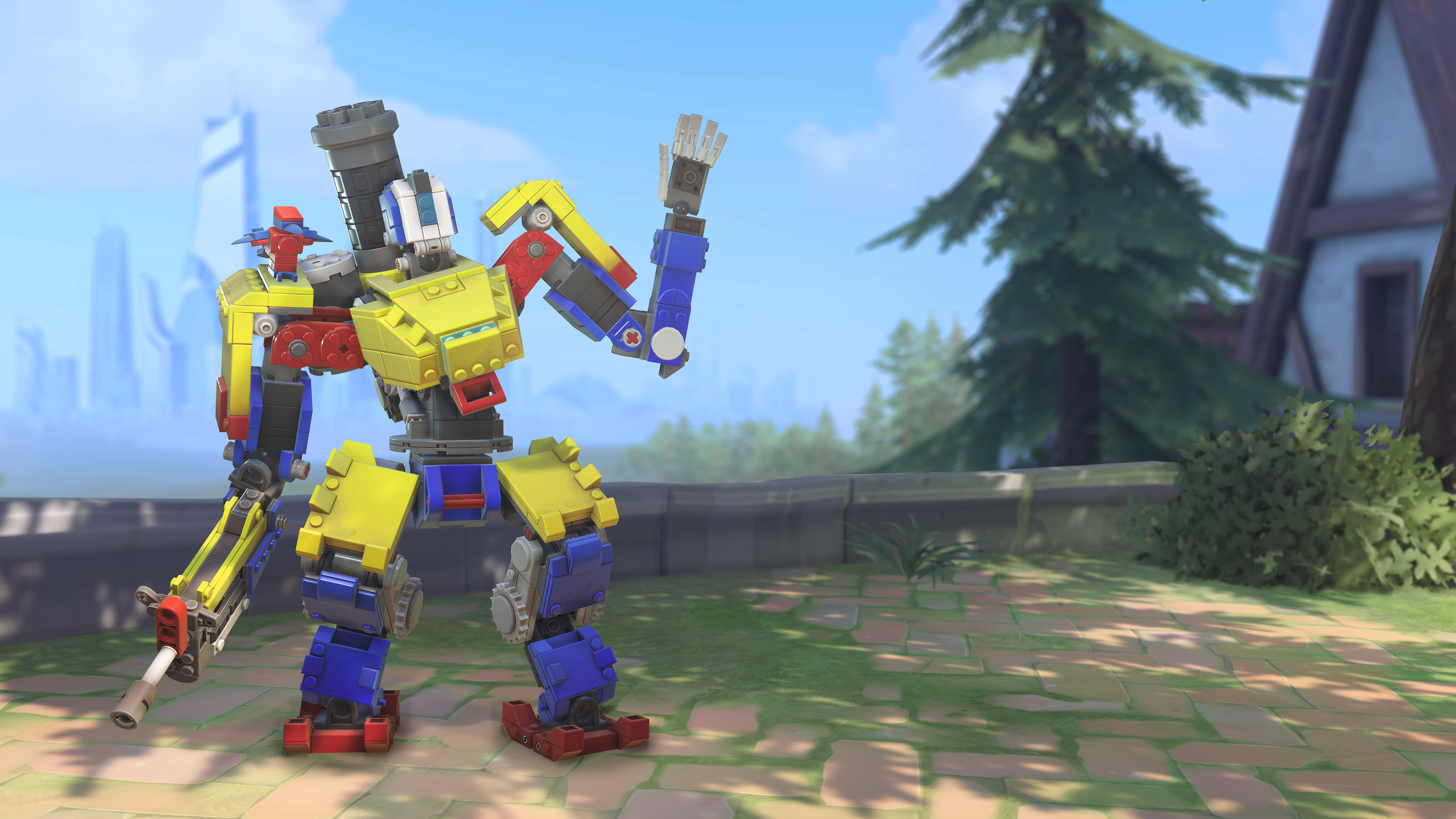 Overwatch's Lego Bastion skin even has Lego sound effects