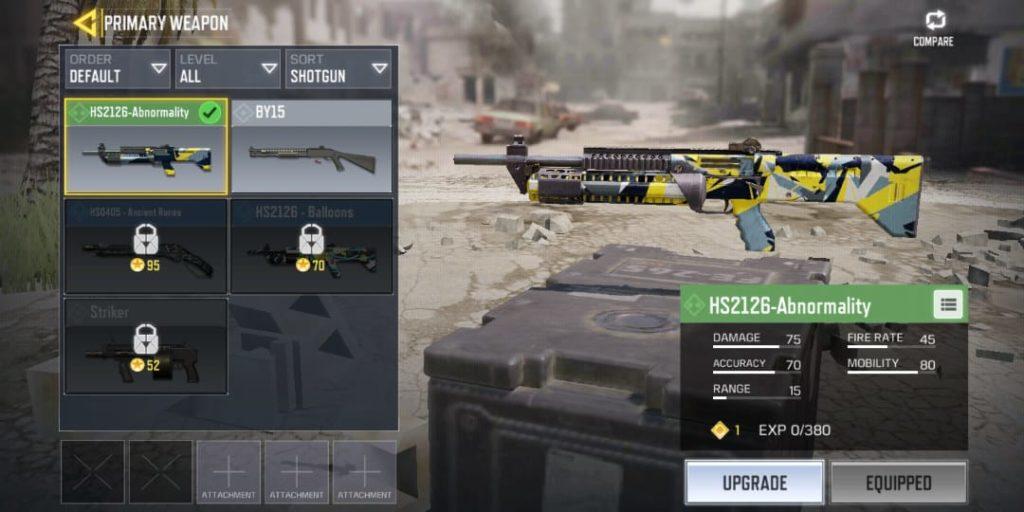 Salah satu senjata terbaik COD Mobile, Abnormality Shotgun. Sumber: Dotesports
