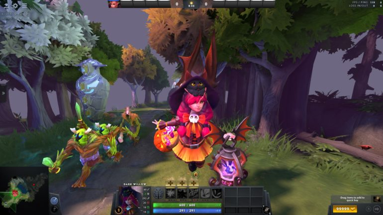 dota 2 dark willow ultra rare halloween cat